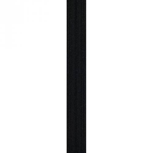 Elastique noir gaufré 25 mm