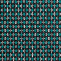 Coton imprimé losange bleu canard et noir