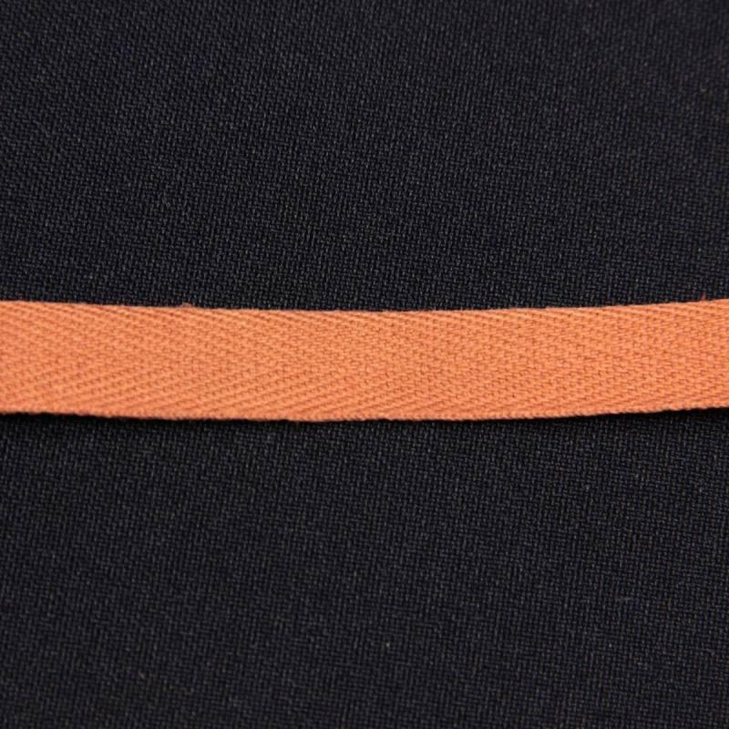 Ruban sergé brun 11 mm