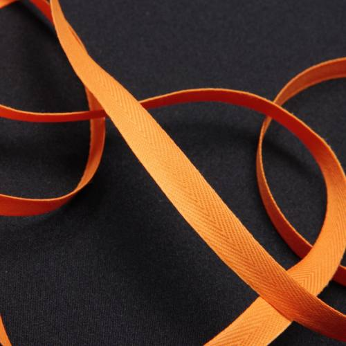 Ruban sergé abricot 11 mm