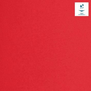 Tissu imperméable uni rouge