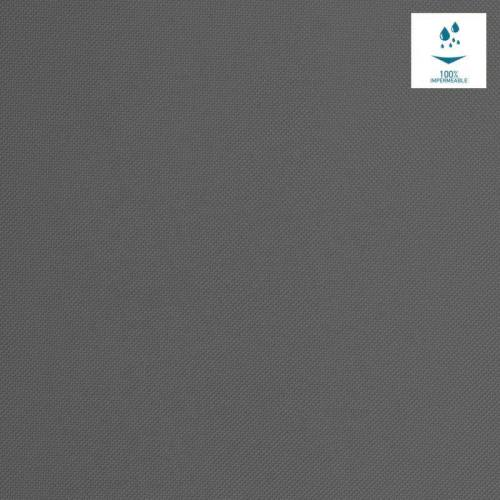Tissu imperméable uni gris