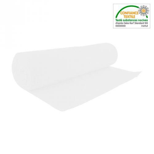 Rouleau 10m tissu tubulaire bord-côte blanc cassé