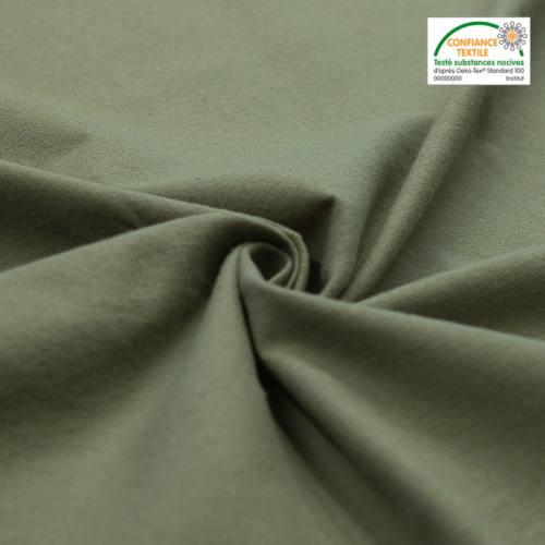 Flanelle de coton vert sauge unie
