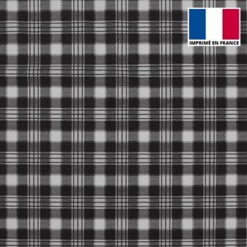 Velours d'habillement motif carreaux gris et blancs