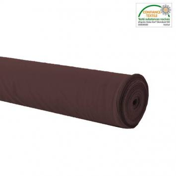 Rouleau 20m Burlington infroissable Oeko-tex marron