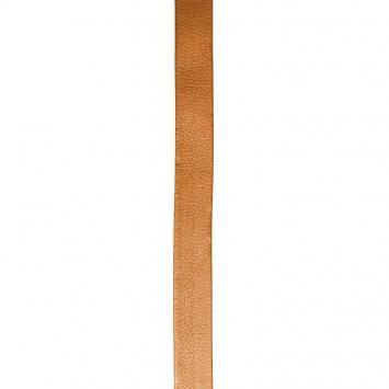 Biais replié simili cuir cuivre 20 mm