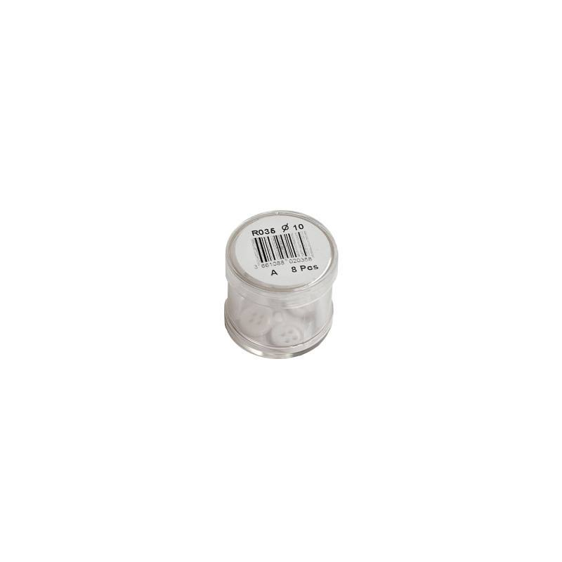 Bouton blanc rond 4 trous 12mm