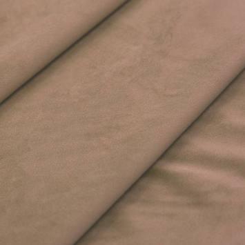 Tissu velours grège