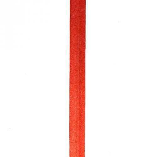 Biais replié satin rouge