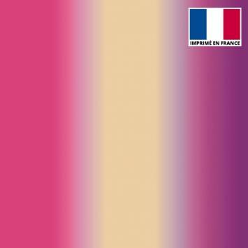 Lycra imprimé dégradé rose, chair et violet
