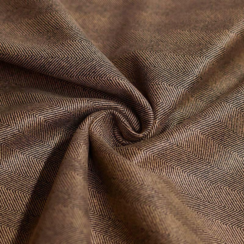 Tissu scuba suédine caramel motif chevron