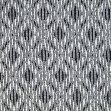 Jersey jacquard gris motif losange
