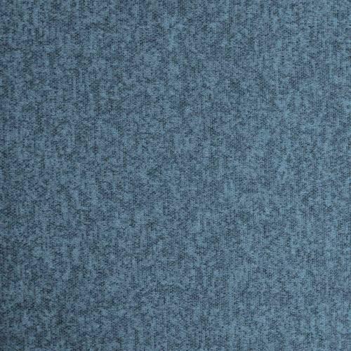 Jersey lainage bleu paon chiné