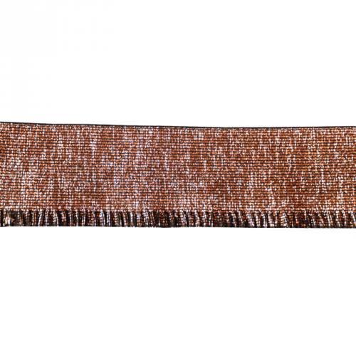 Elastique bord-côte 60mm lurex cuivre