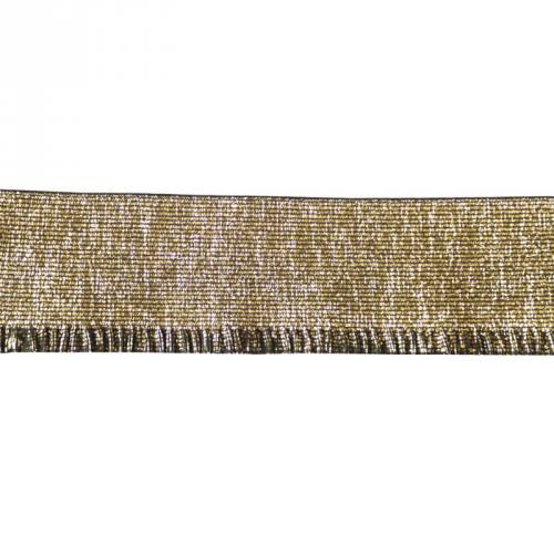 Elastique bord-côte 60mm lurex doré