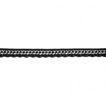 Ruban de dentelle coton noir 20mm
