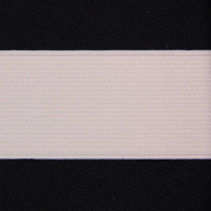 Elastique côtelé blanc 35 mm