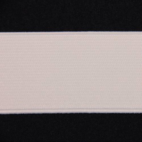 Elastique côtelé blanc 40 mm
