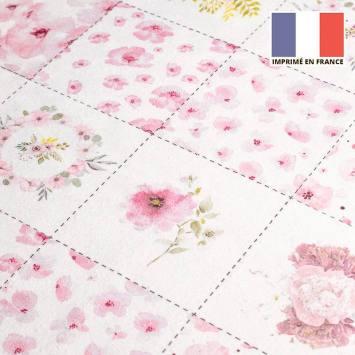 Coupon éponge pour lingettes démaquillantes motif fleurs printanières