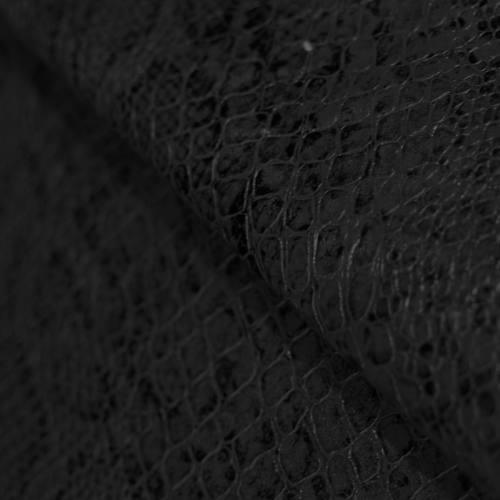 Simili cuir croco motif snake noir