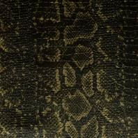 Simili cuir croco motif snake noir et or