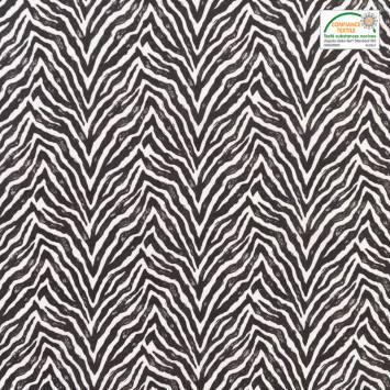 coupon - Coupon 40cm - Coton blanc imprimé zèbre
