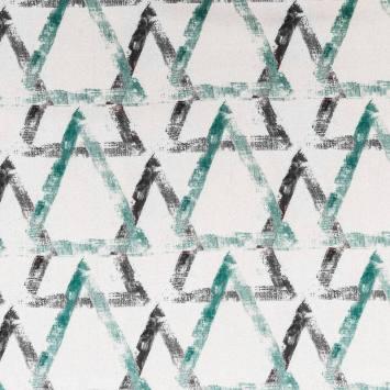Velours nevada triangles verts