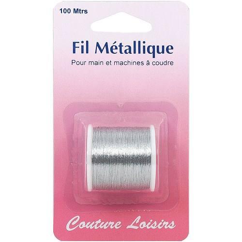 Bobine de fil métallique argent