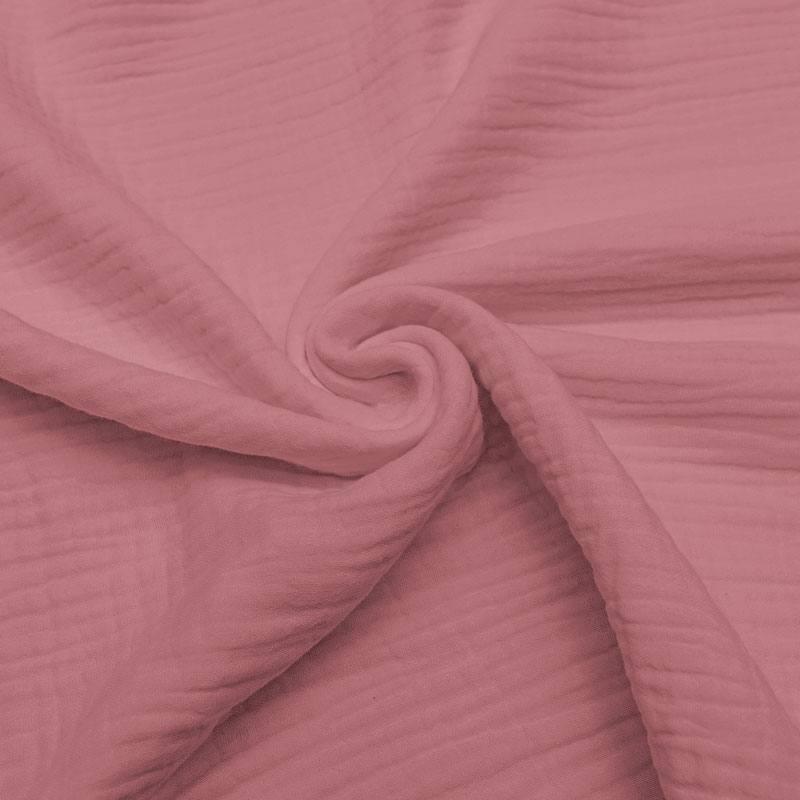 Triple gaze de coton rose