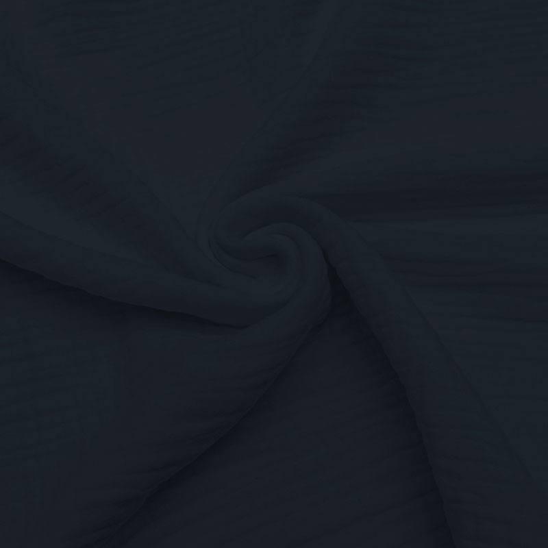 Triple gaze de coton bleu marine
