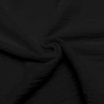 Triple gaze de coton noire