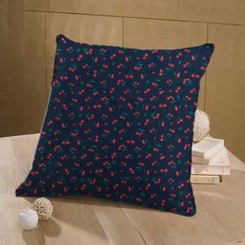 Coton bleu marine imprimé cerise