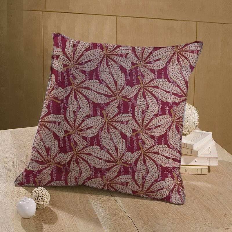 Toile coton bordeaux motif sazzy