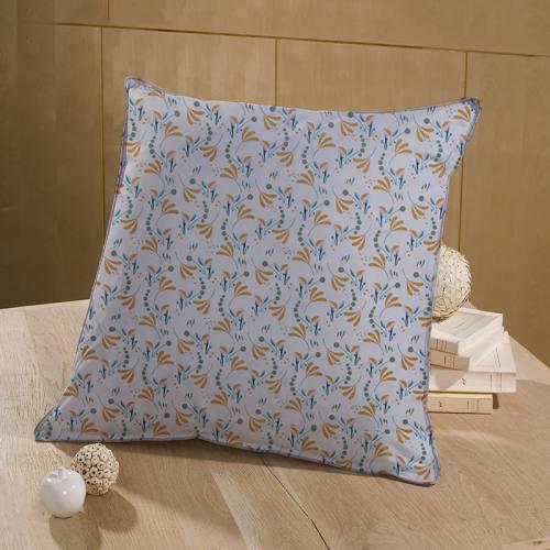 Coton blanc motif howell ocre