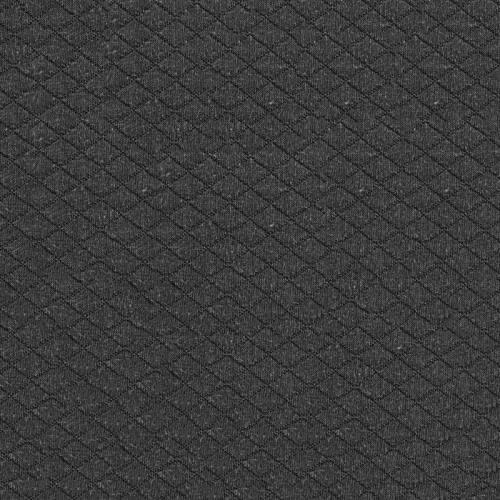 Jersey matelassé gris bitume