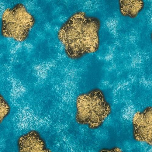 Jersey bleu imprimé mer et étoile jaune