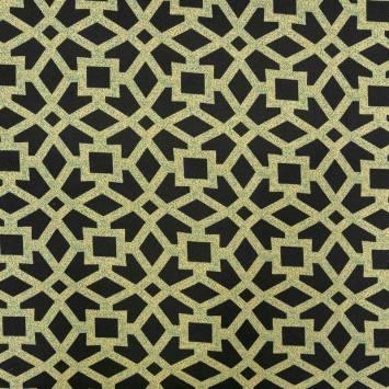 Jersey noir motif jaune et bleu