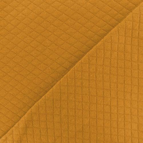 Jersey de coton matelassé ocre