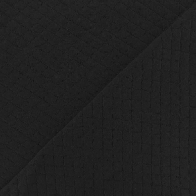 Jersey de coton matelassé noir