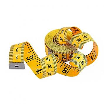 Centimètre couture jaune grande taille