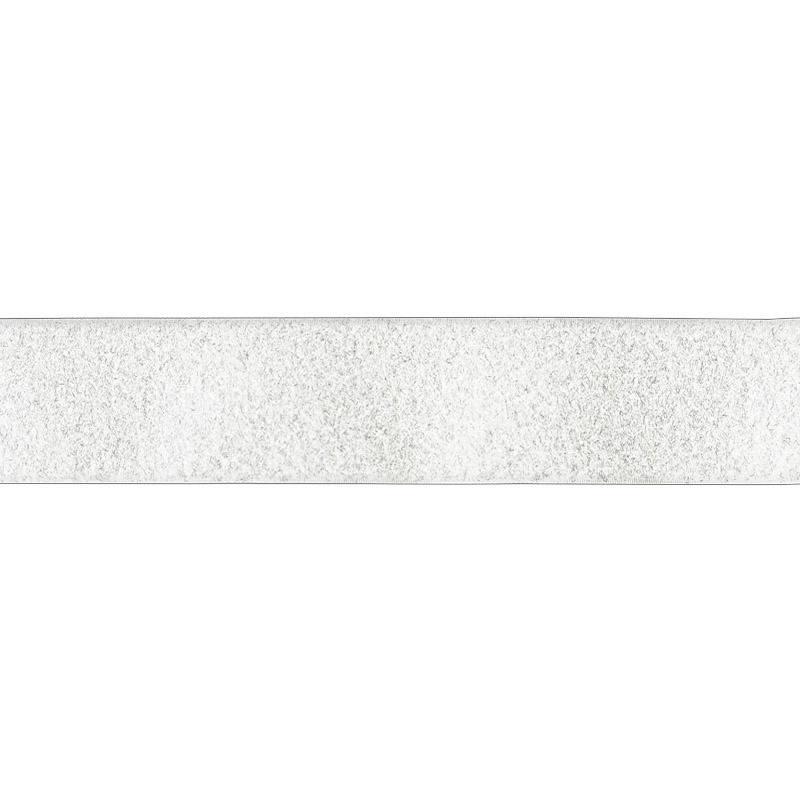 Rouleau 25m Auto-agrippant à coudre velours 38 mm blanc