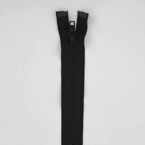 Fermeture injectée noire 70 cm séparable col 580