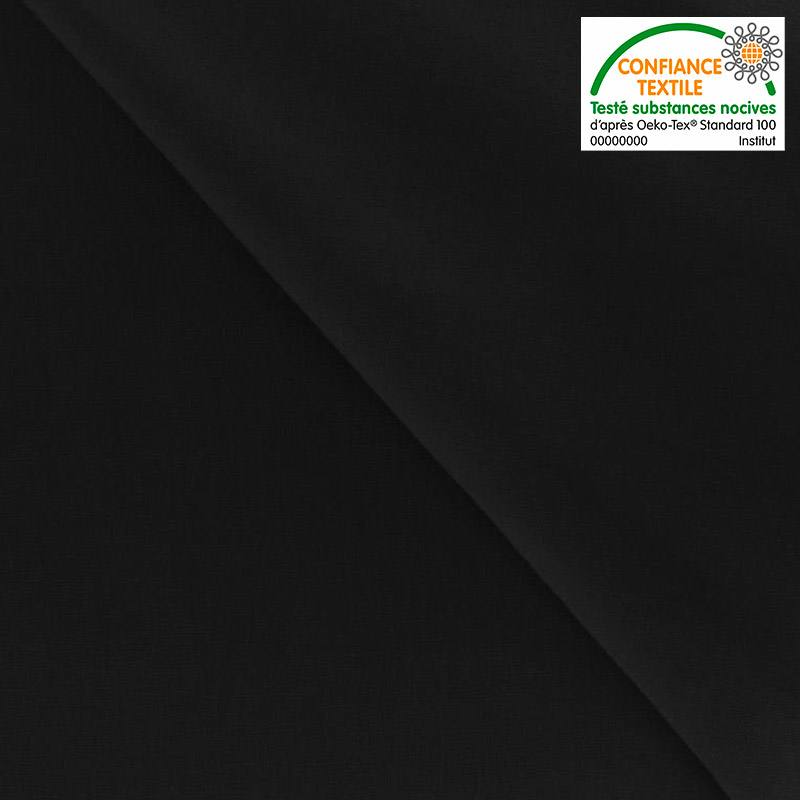 Coton colombine uni noir