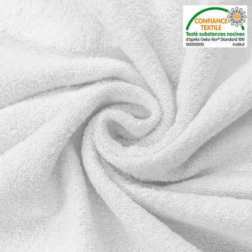 Tissu éponge bambou blanc soyeux