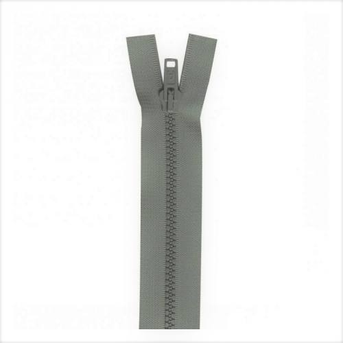 Fermeture injectée grise 30 cm séparable col 243