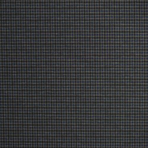 Punto milano noir motif à carreaux gris et bleu