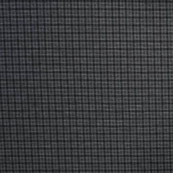 Punto milano noir motif à carreaux gris foncé et clair