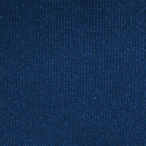 Tissu jersey maille côtelée bleu chiné pailletée