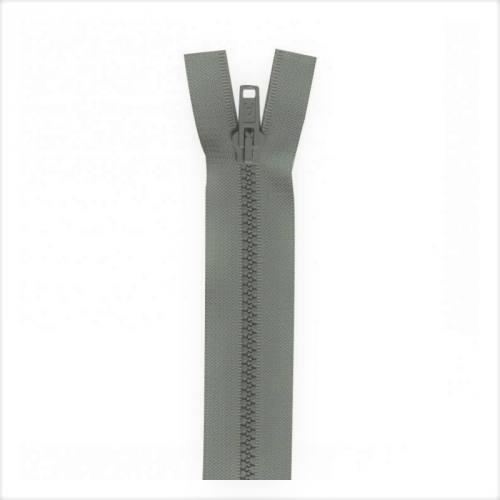 Fermeture injectée grise 55 cm séparable col 243